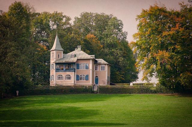 vila podobná zámku