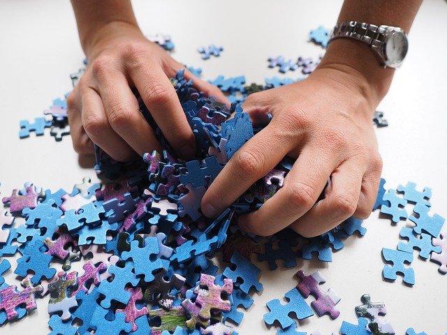 míchání puzzle