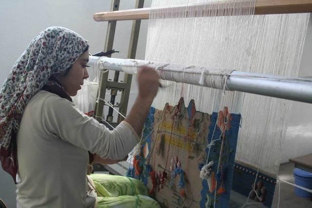 výroba ručně tkaných koberců